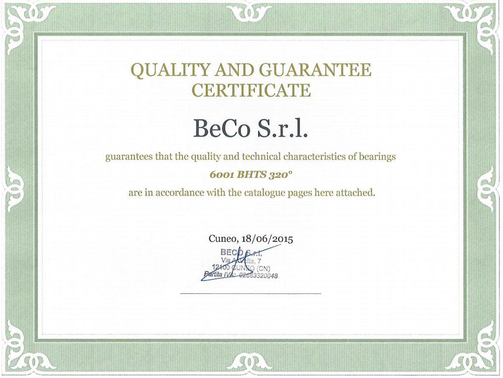 Сертификат на огнеупорные подшипники на дымник флюгер